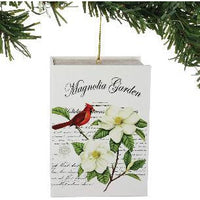 Christmas Magnolia Garden Book with Mini Hanging Ornament - Lake Norman Gifts