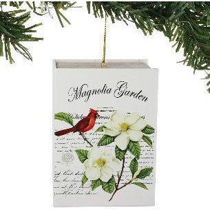 Christmas Magnolia Garden Book with Mini Hanging Ornament