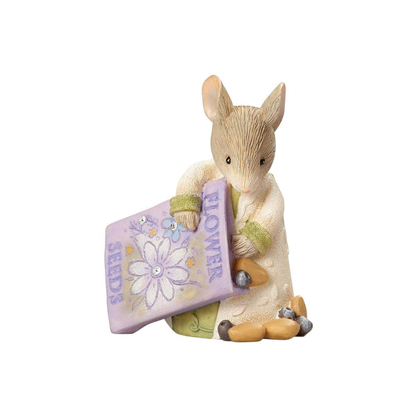 Mouse with Seed Bag' Stone Resin Figurine - Lake Norman Gifts