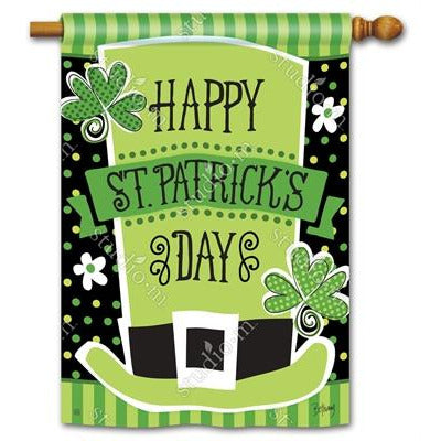 St. Pat's Shamrocks House Flag - Lake Norman Gifts