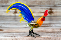 Glass Rooster Bird Animal Figurine 5.5""
