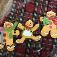Resin Gingerbread ornaments. - Lake Norman Gifts