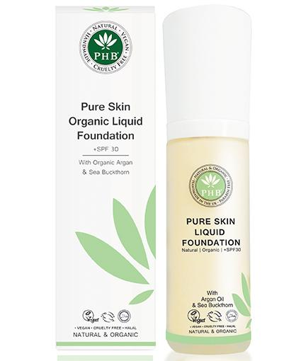 Pure Skin Organic Liquid Foundation + SPF 30 by PHB Foundation