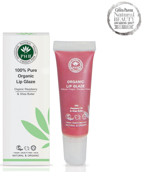 100% Pure Organic Lip Glazes by PHB Lip Gloss