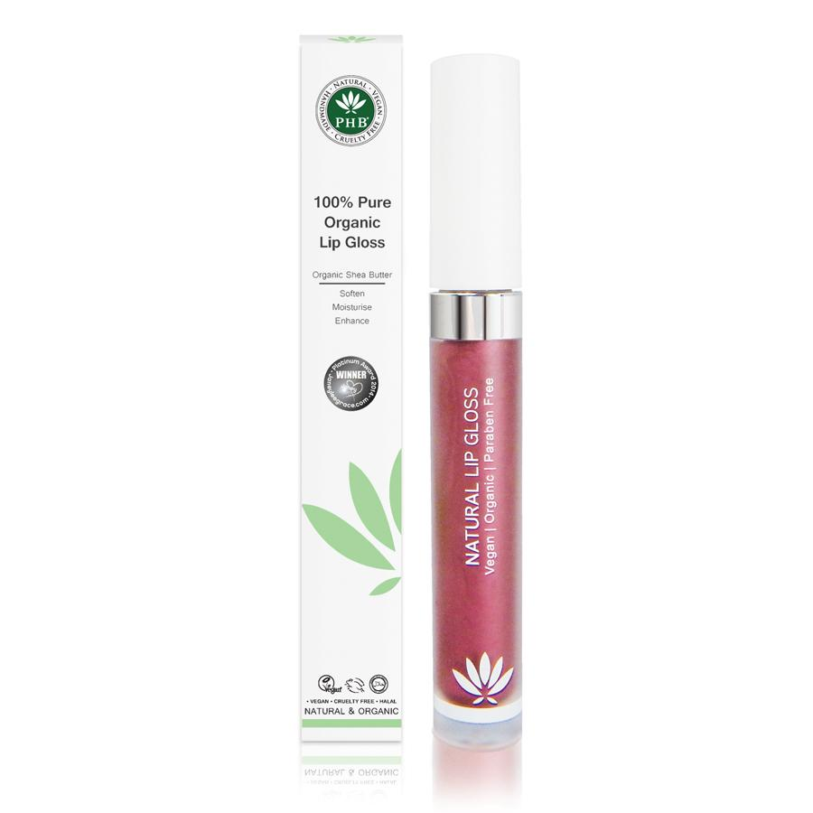 100% Pure Organic Lip Gloss by PHB