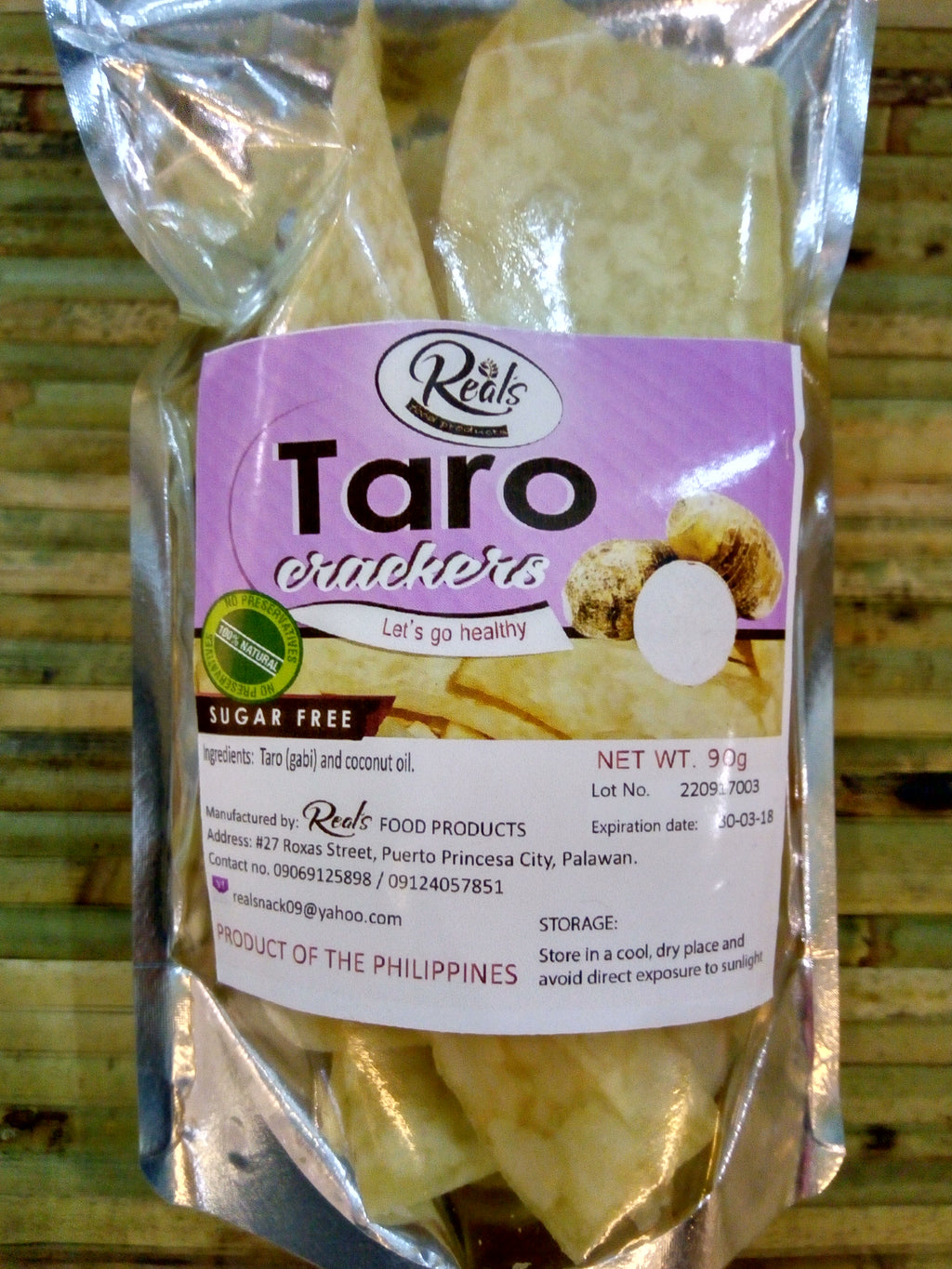 Taro Crackers