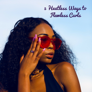 Heat-free styling natural curls
