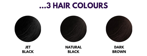 Colour 1 - Jet Black, Colour 1b - Natural Black, Colour 2 - Dark Brown