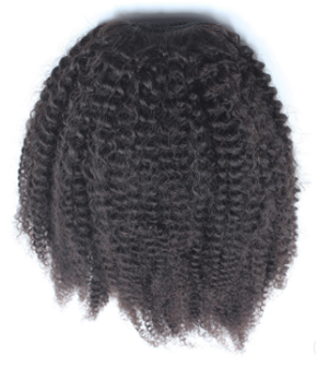 Afro curly wraparound ponytail