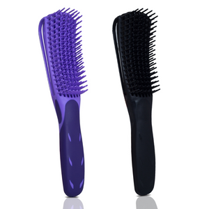 Flexible detangler hairbrush