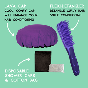 Lava Cap Hot Conditioning Booster - Curly Hair Kit | Purple Jacaranda