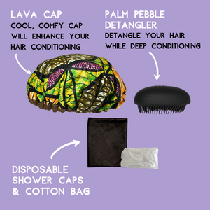 Lava Cap | Natural Flaxseed Hot Conditioning Booster Kit