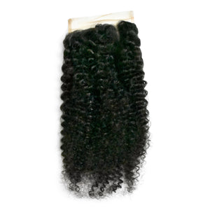 Use our afro curly hair closure to complete your style