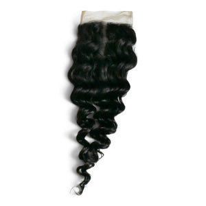 Our deep wave hair closures are expertly crafted on a lace base