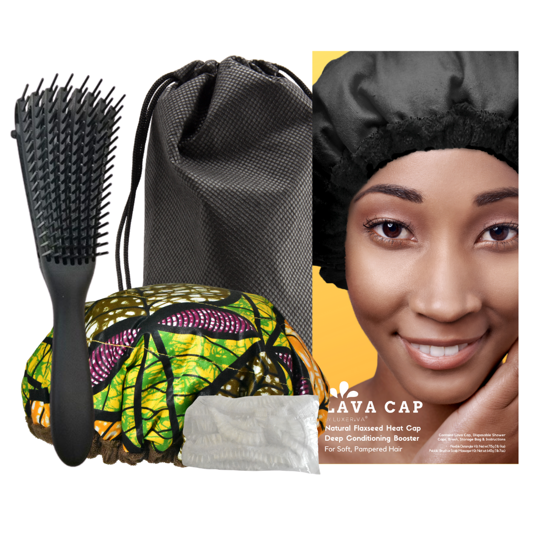 Lava Cap Hot Conditioning Booster - Curly Hair Kit | Tropikara