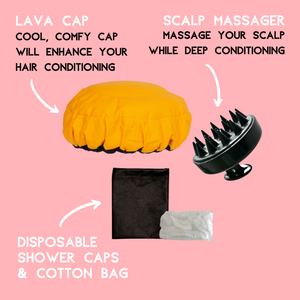 Lava Cap Scalp Massager Kit | Deep Conditioning Booster Heat Cap