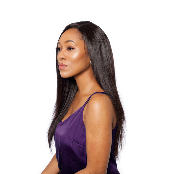 Our straight lace frontal is a great complement to relaxed or slick edges
