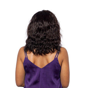This deep wave hairstyle looks great from the back too!
