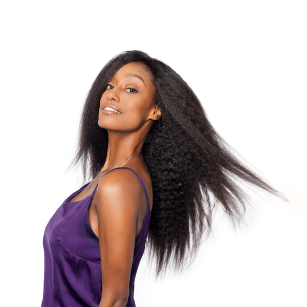 Our afro textured clip-ins work especially well as they blend perfectly with your hair