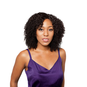 The kinky curly closure gives you full coverage and blends well with your own hairline