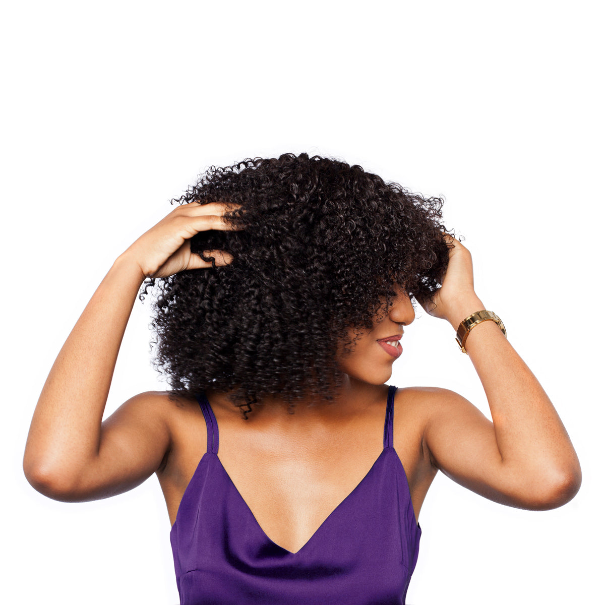 Kinky curly hairstyles give you beautifully defined curls to complete any look