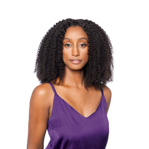 The afro curly closure gives you full coverage and looks just like your own hairline