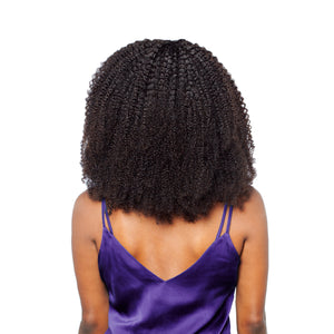 Two and a half afro curly bundles add heaps of volume to your hair