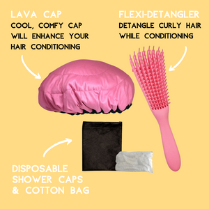 Lava Cap Hot Conditioning Booster - Curly Hair Kit | Retba Rose