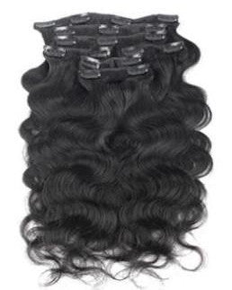 Beautiful loose body wave clip-in hair extension pieces