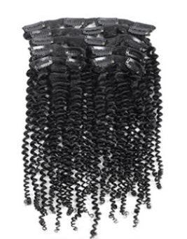 Afro curly extensions create a natural looking boost to any style