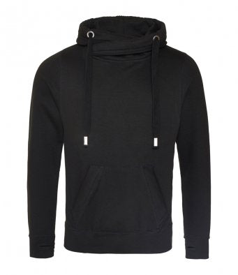 Adult cross neck hoodie