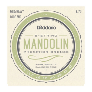 D'ADDARIO EJ75 Mandolin, Phosphor Bronze, Medium/Heavy, 11.5-41