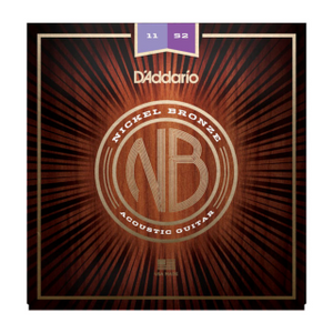 D'ADDARIO ACOUSTIC NB1152 Nickel Bronze Acoustic Guitar Strings, Custom Light, 11-52