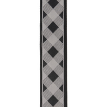 D'ADDARIO Woven Guitar Strap, Buffalo Check,Grey