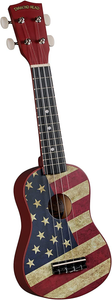 DIAMOND HEAD DU-131 VINTAGE SERIES SOPRANO UKULELE - AMERICAN FLAG