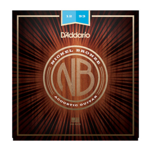 D'ADDARIO ACOUSTIC NB1253 Nickel Bronze Acoustic Guitar Strings, Light, 12-53