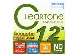 Cleartone 7412 Light Phosphor Bronze Acoustic Guitar Strings 12-53