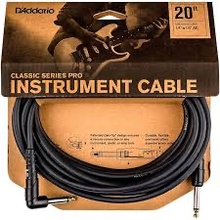 Daddario PW-CGTRA-20' right angle instrument cable