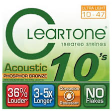 Cleartone 7410 Ultra Light Phosphor Bronze Acoustic Guitar Strings 10-47