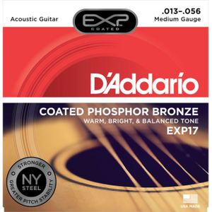 D'ADDARIO ACOUSTIC EXP17 Coated Phosphor Acoustic Guitar, Medium, 13-56