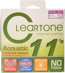 Cleartone 7411 Custom Light Phosphor Bronze Acoustic Guitar Strings 11-52