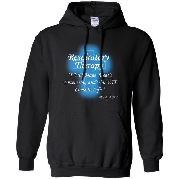Respiratory therapy breath of life black hoodie