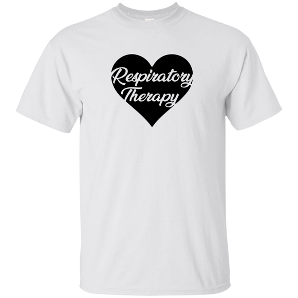 respiratory therapy heart white unisex t-shirt