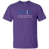 Respiratory therapist NICU RT Saving Tiny Humans one breath at a time purple t-shirt