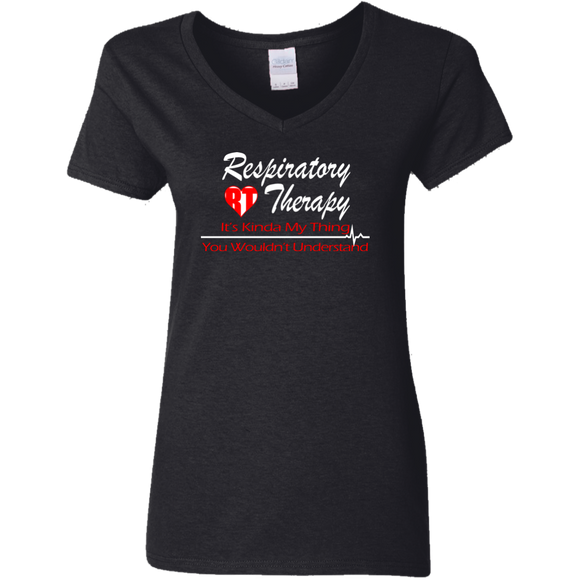 respiratory therapy it's kinda my thing you wouldn't understand black women's v-neck t-shirt