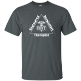 registered respiratory therapist triangle logo gray t-shirt