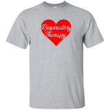 respiratory therapy heart valentine's edition light gray unisex t-shirt