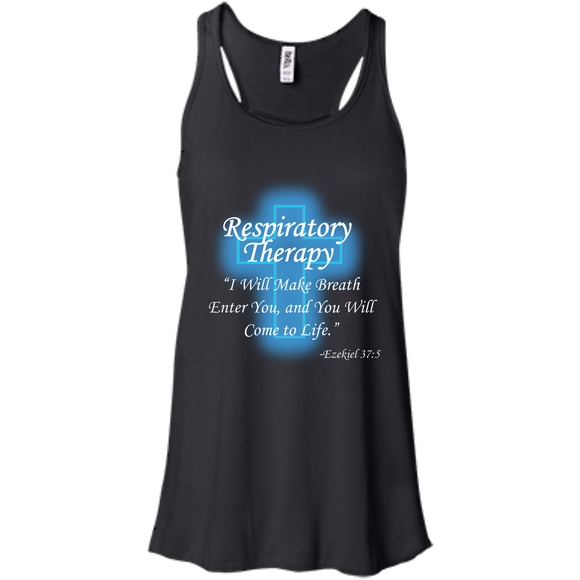 Respiratory therapy breath of life women's black tank top