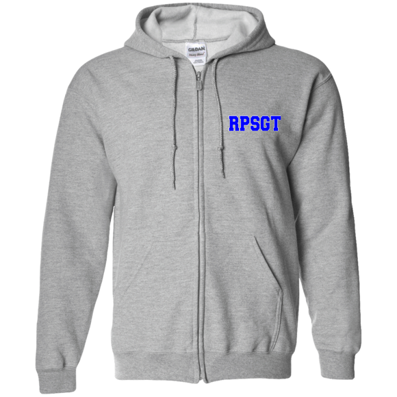 blue rpsgt light gray embroidered zip up hoodie