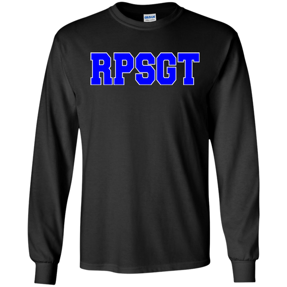 respiratory therapist blue rpsgt black long sleeve t-shirt